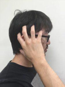 頭のサイド部分のマッサージの仕方