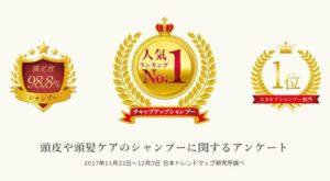 チャップアップシャンプーの金賞受賞画像