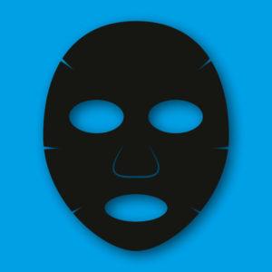黒い仮面の画像