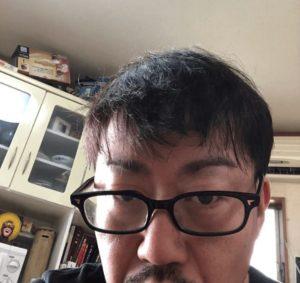 男性の髪の毛ドライ後の画像