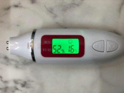 髪の水分量チェックの機械の画像