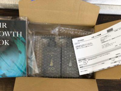 イクオスシャンプー&トリートメントの送られてきた箱の画像