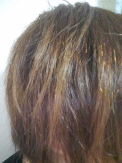 私の傷んだ髪