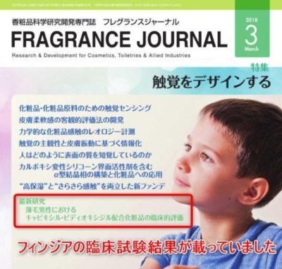 フィンジアの臨床試験データが載っている雑誌の画像