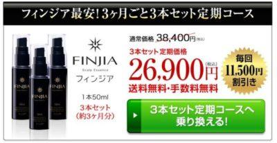 フィンジア公式ページ最安値の画像