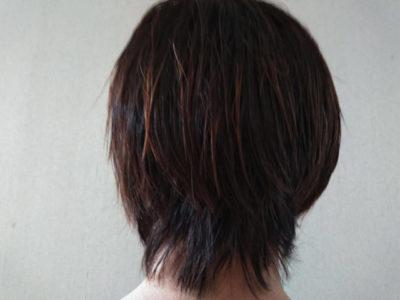 アスロングシャンプー&トリートメント使用後の髪の画像
