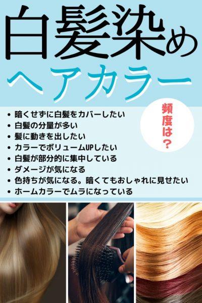 白髪染めカラーリングの頻度は?美容師が適切なペースを解説!!