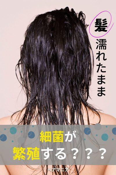 髪が濡れたままだと頭皮を傷める!?